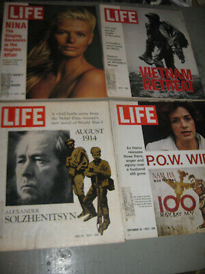 Lot Of 4 Life Magazine 1972 P.o.w. Wife Vietnam Retreat & More Good Condition!!