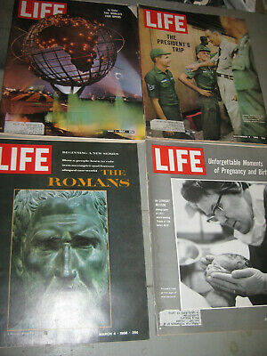 Lot Of 4 Life Magazines From 1964 & 1966 The Romans Presidents Trip To Vietnam