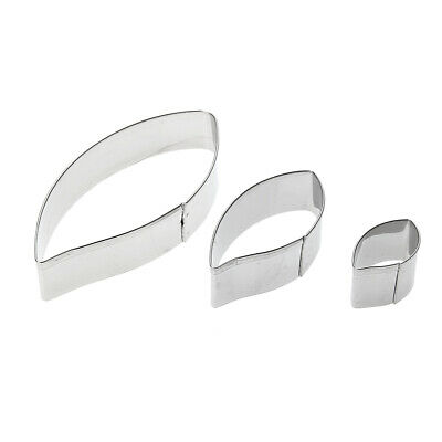 3pcs/set Metal Cookie Cutters Biscuit Mold Leaves Fondant Cake Mould R1BO