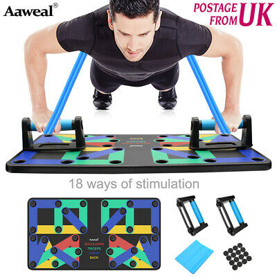 18/9 in1 Push up Board Stand Fitness Workout System Gym Muscle Training Exercise