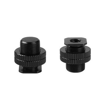 Metal Shockproof clip Hot shoe Adapter 5/8 inch 1/4 inch Screw for Camera Tripod