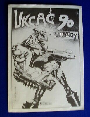 UKCAC 90 Schedule of events,  Bisley cover art. vfn.