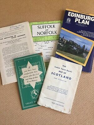 Collection of Vintage Maps From The United Kingdom - Rare Copies - Ephemera