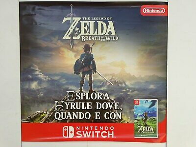 POSTER 70x80 cm THE LEGEND OF ZELDA BREATH OF THE WILD LOCANDINA UFFICIALE