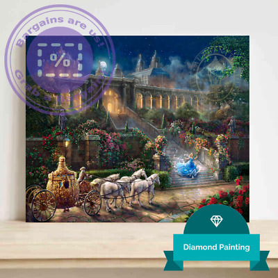 Disney, Thomas Kinkade Full Diamond Painting - CLOCK STRIKES MIDNIGHT