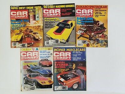 ViNTAGE Lot Of 5 Issues CAR CRAFT Magazine 1980's GREAT ADS