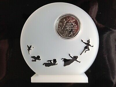 Peter Pan 50p Coin Perspex Display Stand To Accept 2  X 50p. Coin Not Included