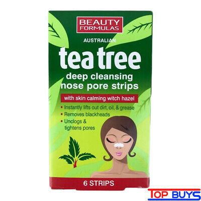 Tea Tree Nose Pore Strips Blackhead Removal Deep Cleansing 6 Pack