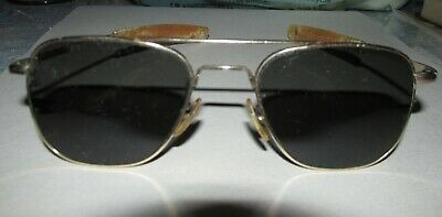 Vintage AO American Optical 12K GF Gold Filled 5 1/2 Aviator Pilot Sunglasses