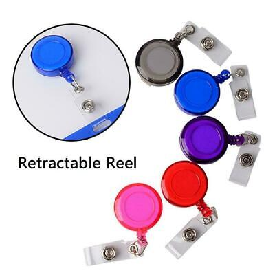 5x AU Retractable Badge Holder Reel Swipe Cards Security ID Pull Key Tag Cl H5B6