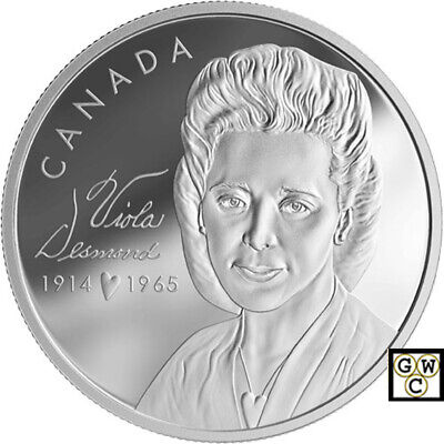 2019 'Viola Desmond' Banknote & Proof $20 Silver Coin Set 1oz .9999 Fine (18782)
