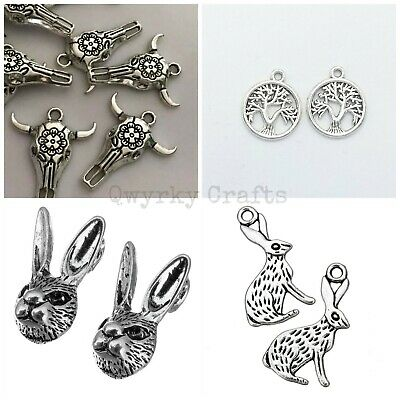 Antique silver Tibetan charms pendants jewellery card making crafts LOT 2