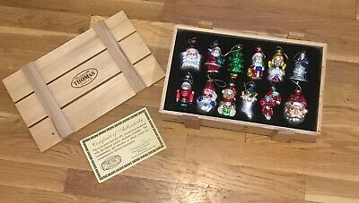 Thomas Pacconi Museum Series 12 Glass Blown Ornaments I Wood Box