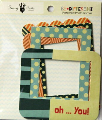 Fancy Pants Designs Be Different Patterned Photo Frames Embellishments