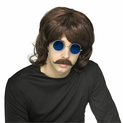 Rubies 70s Shag Wig Brown Hippie Adult Mens Halloween Costume Accessory 51323