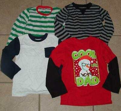 Boys 5T / 5 Toddler School or Play Long Sleeve 4 Pc Shirt Lot - One is NEW