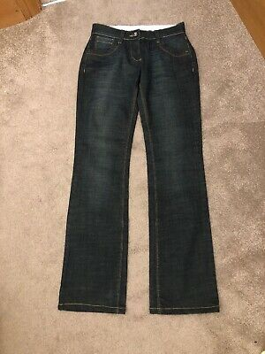 BNWOT Fat Face Straight Leg Stretch Dark Blue Denim Prusik Jeans size 8 34L