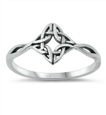 .925 Sterling Silver Ring Celtic Triad Triquetra Ladies Midi Thumb size 4-10 NEW