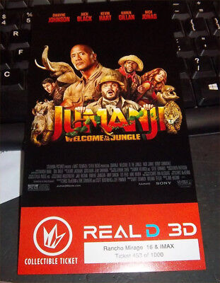 JUMANJI WELCOME TO THE JUNGLE Collectible Ticket/Movie Card