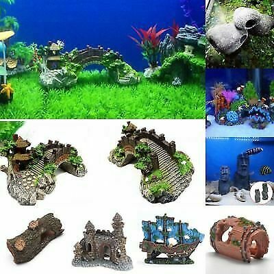 Aquarium Ornaments Resin Castle Decorations Fish Tank Supplies Accessories Reef