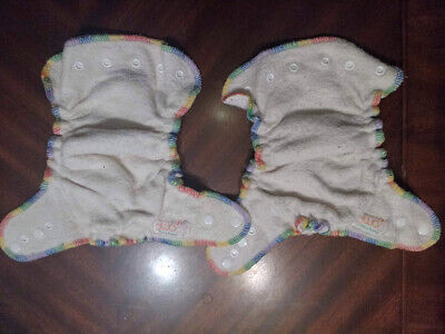 Two 2 AMP Hemp Fitted Overnight Cloth Diapers