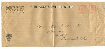 Canada Early 1900s Large Size Cover with 1c and 2c early meter strikes from CNE
