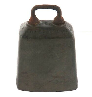 """RARE 1800s SIGNED JAMES BARWELL """"SUCCESS TO HORSE TEAMS"""" BELL / COW BELL."""