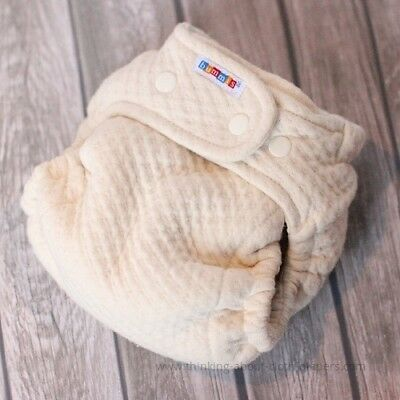 Two 2 Bummis Dimple Overnight Cloth Diapers Insert Sleep Absorbent