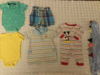 Baby Boy Summer Clothes Lot Polo Carter's Pooh Romper Dinosaur Sleeper Shorts