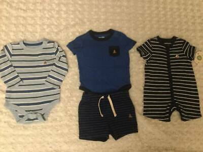 Lot of BABY GAP baby boy Summer clothes Bodysuit + Romper + Shorts Matching