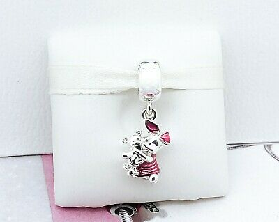 NEW Authentic PANDORA 925 Silver Disney Pink Piglet & Bear Charm 792134EN117