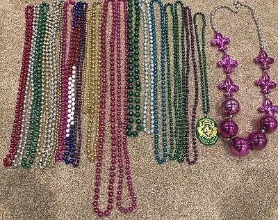21 Assorted Authentic New Orleans Mardi Gras Beads from 2019 Krewe of Endymion