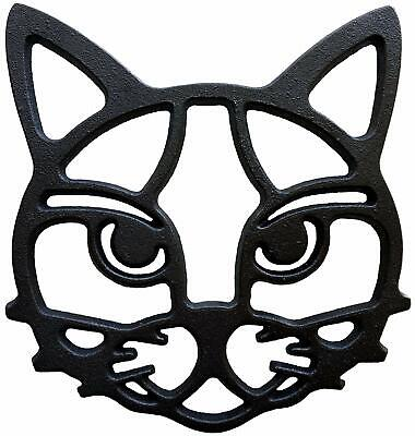 Cat Trivet Cast Iron Cat Lover Gift  & Wall Hanging Decoration - Tabby Trivet