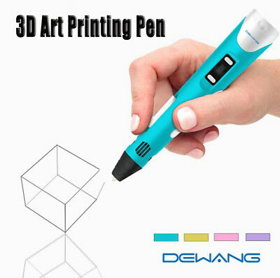 DEWANG 3D Printing Pen 2nd Crafting Doodle Printer Drawing Arts Modeling PLA NEW