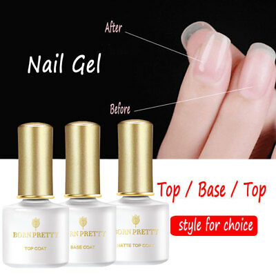 BORN PRETTY 6ml Top Base Coat Matte Peel Off Fast Dry Magic Burst Remover Gel