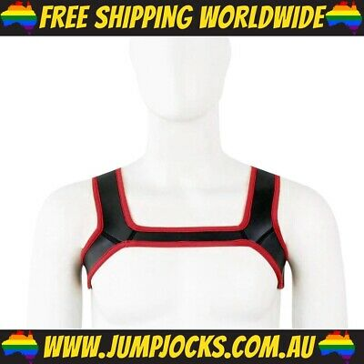 Red Rubber Chest Harness - Gay, Fetish, Bondage *FREE SHIPPING WORLDWIDE*