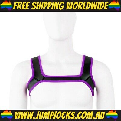 Hot Pink Rubber Chest Harness - Gay, Fetish, Bondage *FREE SHIPPING WORLDWIDE*