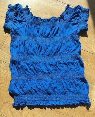 Young Girls Blue Shirt Great Condition 10-11 Years Of Age