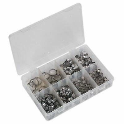 Sealey AB043SE Pince en O Simple Oreille Assortiment 160pc Acier Inoxydable