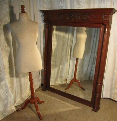 A Very Large French Carved Oak Wall Mirror