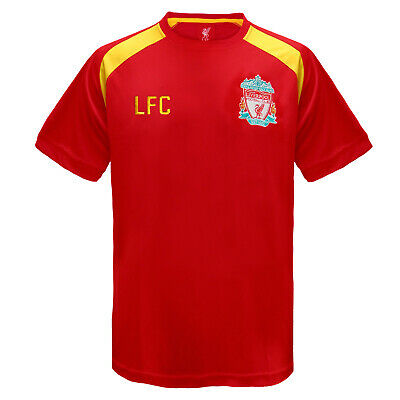Liverpool FC Official Football Gift Boys Poly Training Kit T-Shirt