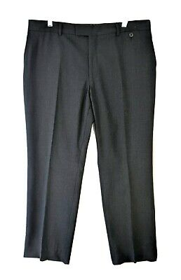 Ted Baker Endurance Mens 37x32 100% Wool Charcoal Flat Front Dress Pants