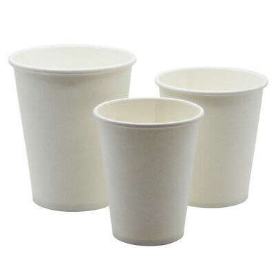 250 X 7oz White Disposable Paper Cups Single Wall White Paper Cups ECO-FRIENDLY