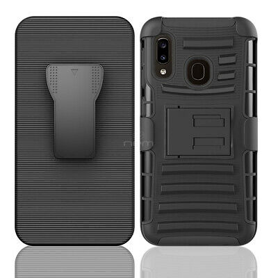 For Samsung Galaxy A50 SM-A505 Magnetic Ring Combo Clip Holster Cover Phone Case