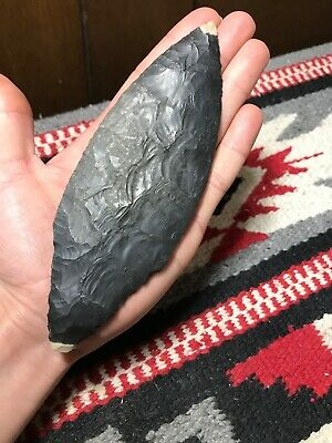 "MLC S3531 6"" Big Pre-Columbian Paper Thin Spear Arrowhead Old Artifact Americas"