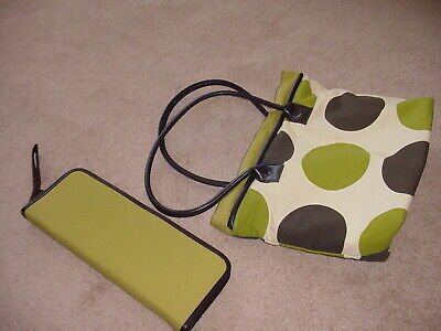Knitting project bag with inside pouch & zippered case for needles