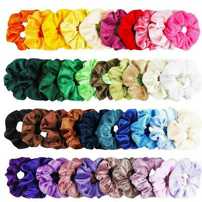 40Pcs Colorful Women Girl Velvet Hair Band Scrunchie Set Elastic Ponytail New