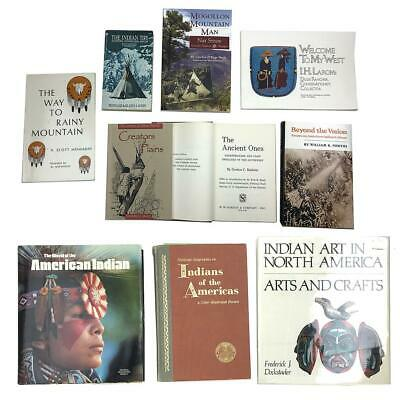 Collection of Native American History, Art and Poetry Books