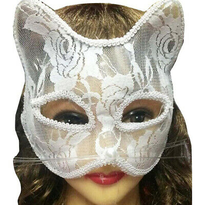 Women Sexy Lace Fox Cat Face Eye Mask Halloween Party Dance Role Playing Prop PX
