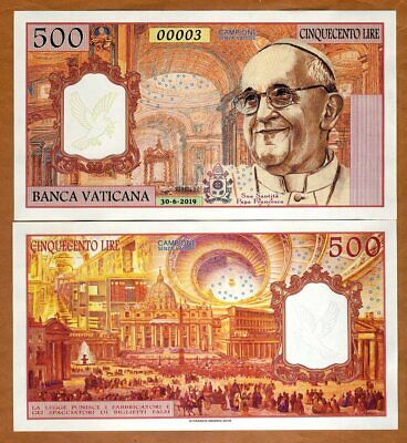 Vatican, 500 Lire, 2019, Private Issue Kamberra, UNC > Pope Francis